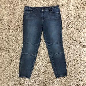 Ann Taylor Loft capri crop jeans with ankle zipper